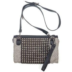 SR Squared Sondra Roberts Woven Crossbody Bag